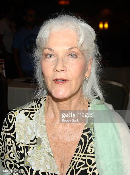 Linda Thorson attends Super Mega Show Comic Fest at Hanover Marriott on June 10 2012 in Whippany New Jersey