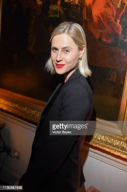 Linda Tol attends the Victoria Beckham x YouTube Fashion Beauty After Party at London Fashion Week hosted by Derek Blasberg and David Beckham at...
