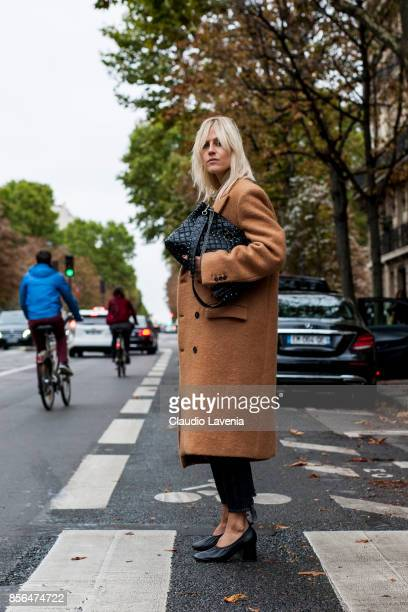 Linda Tol is seen before the Valentino show during Paris Fashion Week Womenswear SS18 on October 1 2017 in Paris France