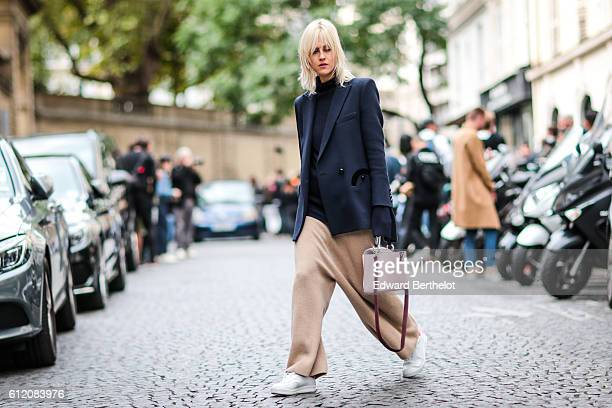 Linda Tol is seen outside the Valentino show during Paris Fashion Week Spring Summer 2017 on October 2 2016 in Paris France