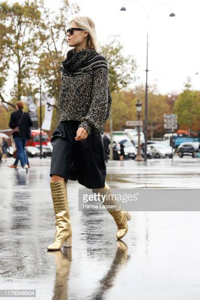 Linda Tol wearing Chanel outside Chanel during Paris Fashion Week Womenswear Spring Summer 2020on October 01 2019 in Paris France