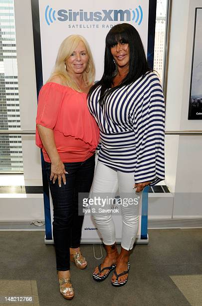 Linda Torres and Angela 'Big Ang' Raiola visit SiriusXM Studios on July 12, 2012 in New York City.