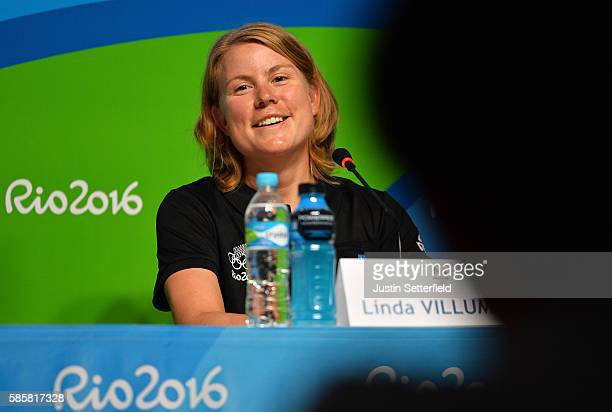 Linda Villumsen of New Zealand attends a New Zealand Olympic Committee press conference on August 4 2016 in Rio de Janeiro Brazil