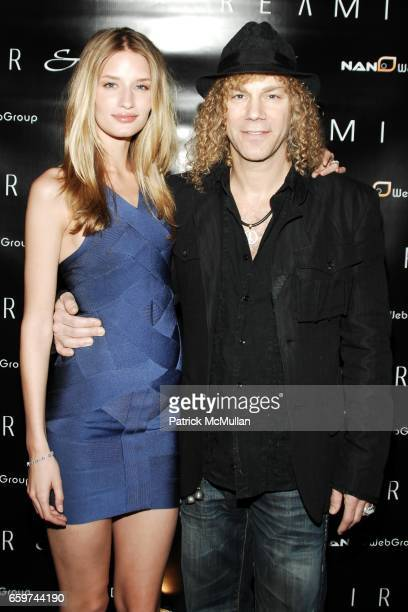 Linda Vojtova and David Bryan attend REAMIR CO Launch Party for their new SIGNITURE PRODUCTS Performance by MICHAEL IMPERIOLI LA DOLCE VITA at Touch...