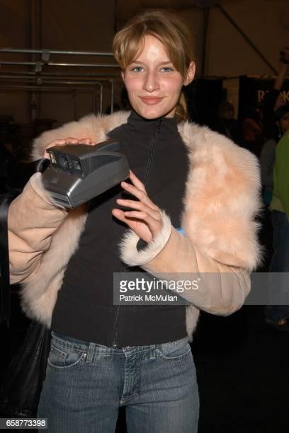 Linda Vojtova attends Cynthia Rowley Fashion Show at The Promenade on February 12 2004 in New York City