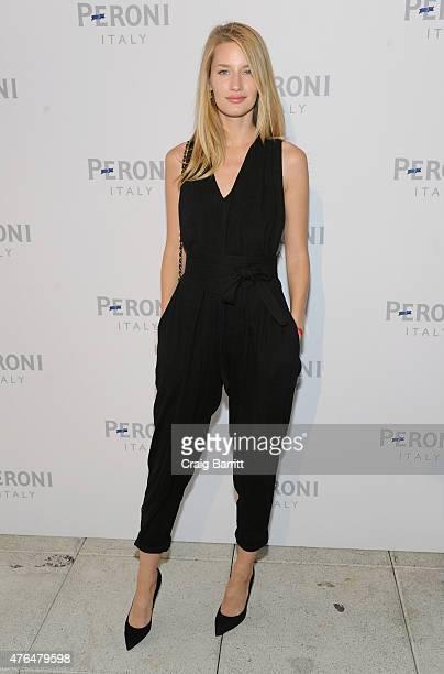Linda Vojtova attends Peroni Nastro Azzurro and Gia Coppola Celebrate Grazie Cinema Series at Hudson Hotel on June 9 2015 in New York City