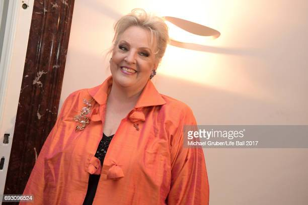 Linda Watson poses at the reception after the Life Celebration Concert at Burgtheater on June 6 2017 in Vienna Austria The concert marks the opening...