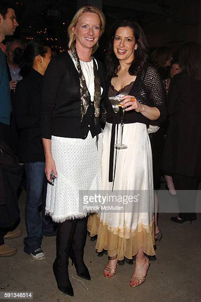 Linda Wells and Deborah Needleman attend Launch Party for Conde Nast's new home shopping magazine domino at Skylight Studios on April 12 2005 in New...