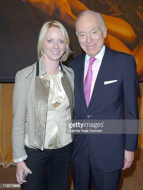 Linda Wells and Leonard Lauder during Tom Ford Estee Lauder SAKS Launch at SAKS Fifth Avenue in New York City New York United States