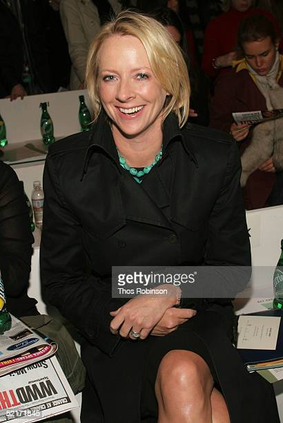 Linda Wells editor in chief of Allure magazine attends the Jeffrey Chow Fall 2005 fashion show during the Olympus Fashion Week at Bryant Park...