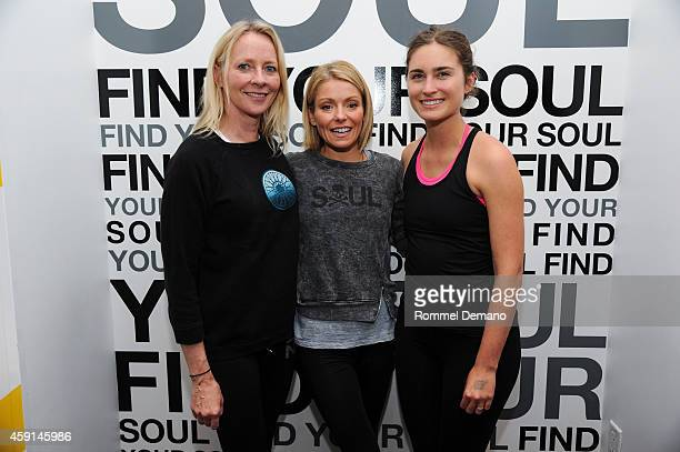 Linda Wells Kelly Ripa and Lauren BushLauren attend The Soulcycle Charity Ride Benefiting Fashion Targets Breast Cancer at Soul Cycle New York on...