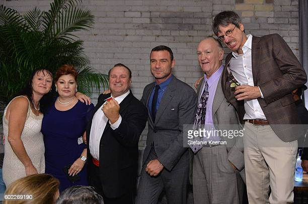 Linda Wepner, actor Liev Schreiber, protagonist Chuck Wepner and director Philippe Falardeau at The Bleeder TIFF party hosted by GREY GOOSE Vodka at...