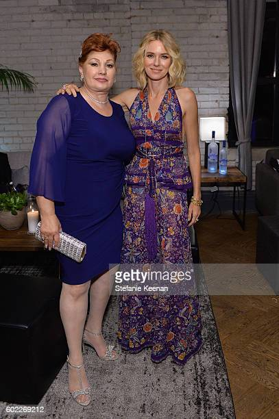Linda Wepner and actress Naomi Watts at The Bleeder TIFF party hosted by GREY GOOSE Vodka at Storys Building on September 10 2016 in Toronto Canada