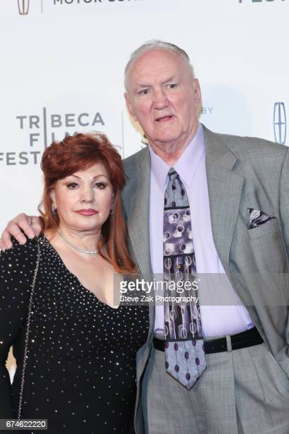 Linda Wepner and Chuck Wepner attend the screening of Chuck during the 2017 Tribeca Film Festival at BMCC Tribeca PAC on April 28 2017 in New York...
