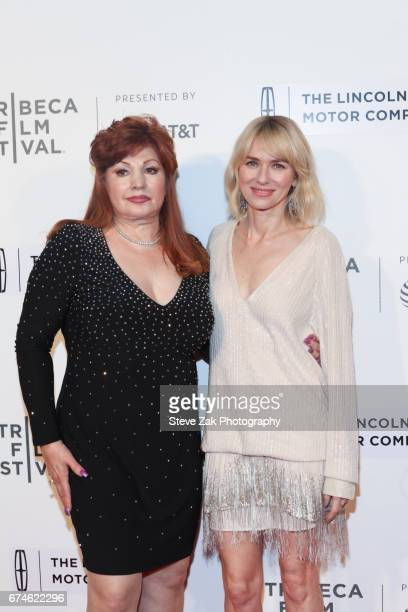 Linda Wepner and Naomi Watts attend the screening of Chuck during the 2017 Tribeca Film Festival at BMCC Tribeca PAC on April 28 2017 in New York City