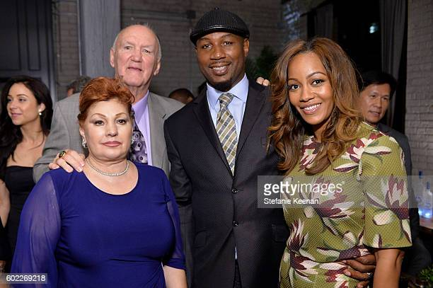 Linda Wepner, Chuck Wepner, Lennox Lewis and Violet Chang at The Bleeder TIFF party hosted by GREY GOOSE Vodka at Storys Building on September 10,...