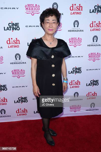Linda Yim attends The HOLA Mexico Film Festival presented by DishLATINO 'America I Too' and 'Eres Mi Pasion' Premieres at Cinepolis Pico Rivera on...