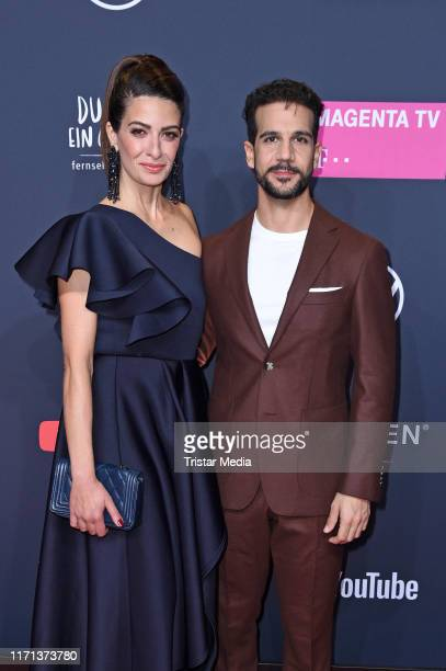 Linda Zervakis and Daniele Rizzo attend the YouTube Goldene Kamera Digital Awards at Kraftwerk on September 26 2019 in Berlin Germany