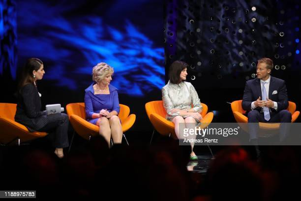 Linda Zervakis and guests speak on stage at the Tribute To Bambi show at Kurhaus BadenBaden on November 20 2019 in BadenBaden Germany