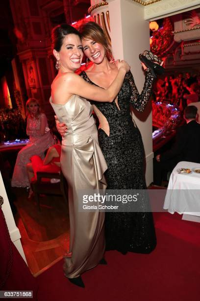 Linda Zervakis and Mareile Hoeppner during the Semper Opera Ball 2017 at Semperoper on February 3 2017 in Dresden Germany