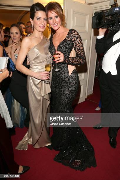 Linda Zervakis and Mareile Hoeppner during the Semper Opera Ball 2017 at Semperoper on February 3 2017 in Dresden Germany