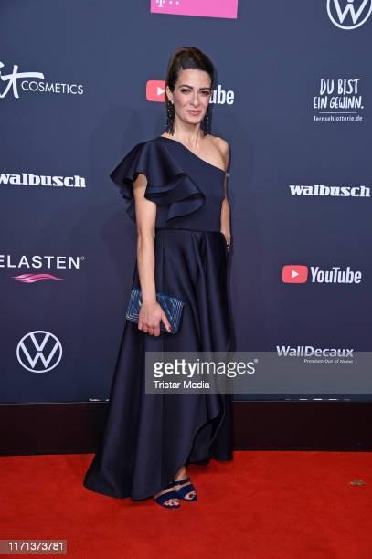 Linda Zervakis attends the YouTube Goldene Kamera Digital Awards at Kraftwerk on September 26 2019 in Berlin Germany