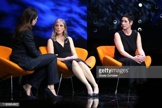 Linda Zervakis Dr Monika Berns and Collien UlmenFernandes during the Tribute To Bambi show at Casino BadenBaden on November 20 2019 in BadenBaden...