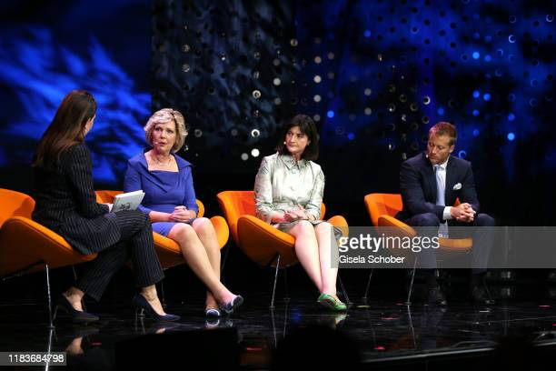 Linda Zervakis Dr Petra Nickel Andrea Moehringer Andreas Ollert during the Tribute To Bambi show at Casino BadenBaden on November 20 2019 in...