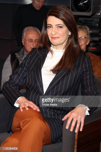 Linda Zervakis during the NDR 'Tietjen und Bommes' TV show on February 15 2019 in Hanover Germany