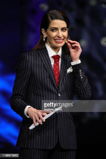 Linda Zervakis speaks on stage at the Tribute To Bambi show at Kurhaus BadenBaden on November 20 2019 in BadenBaden Germany