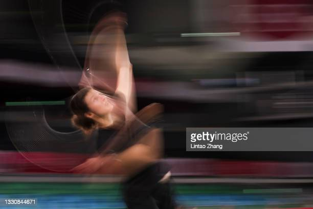 Linda Zetchiri of Team Bulgaria competes against Hsuan-Yu Wendy Chen of Team Australia during a Women's Singles Group I match on day four of the...