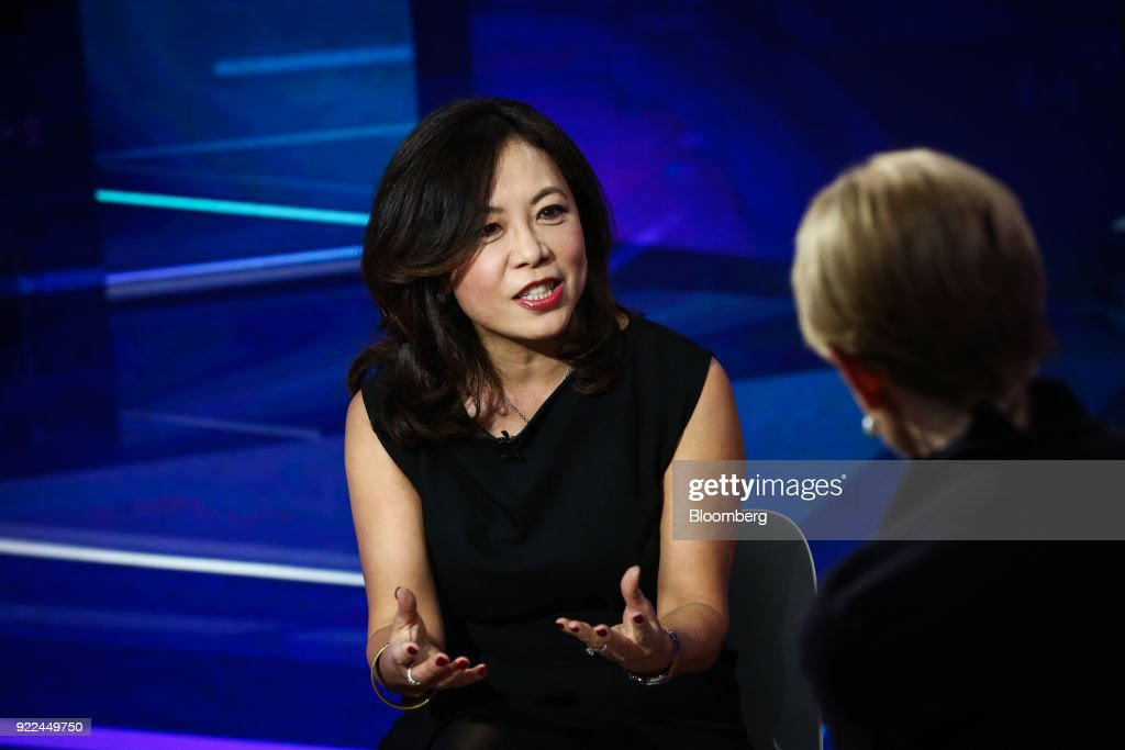 Linda Zhang, founder and chief executive officer of Purview Investments, speaks during a Bloomberg Television interview in New York, U.S., on Wednesday, Feb. 21, 2018. Zhang discussed the rise of socially responsible funds and how the Florida teachers' pension fund invested in the AR-15 gun maker. Photographer: Christopher Goodney/Bloomberg via Getty Images
