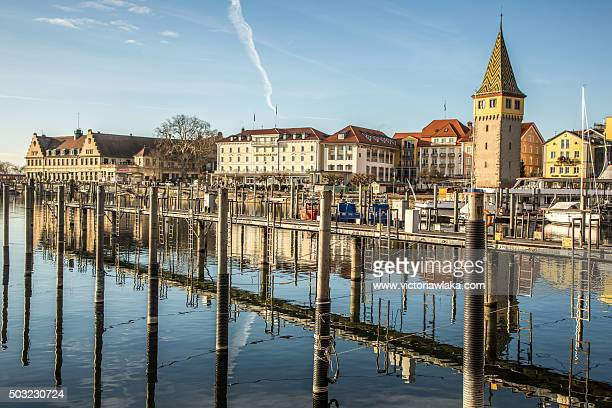 Lindau harbor with Mang tower