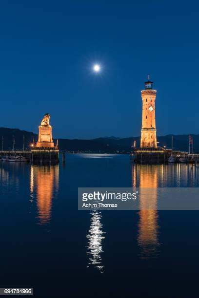 lindau harbour, bavaria, germany, europe - beschaulichkeit stock pictures, royalty-free photos & images