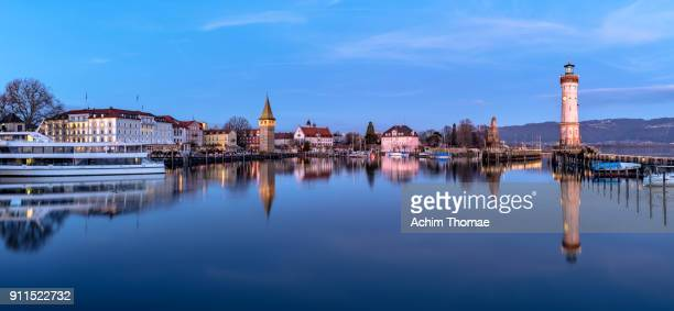 Lindau Harbour, Bavaria, Germany, Europe