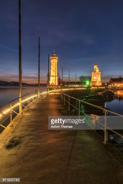 Lindau Harbour, Bavaria, Germany, Europe