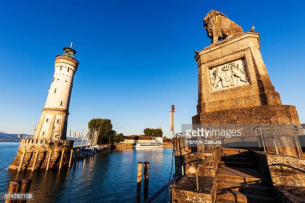 Lindau Lion and Lighthouse
