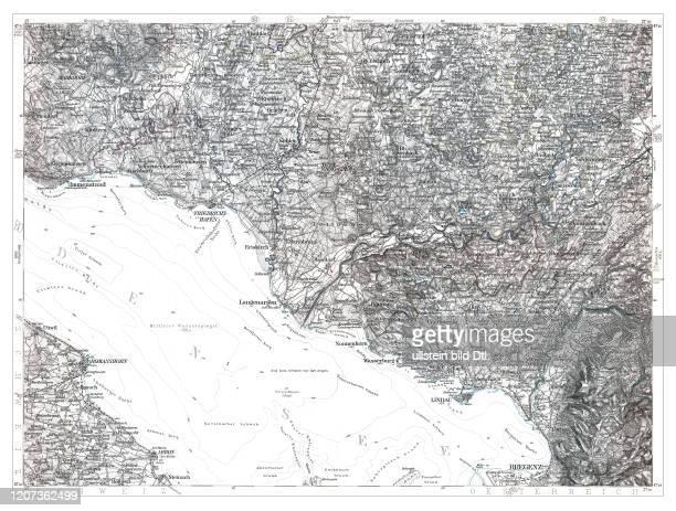 Lindau-Bodensee 1893, aus: Karte des Deutschen Reiches in 660 Einzelblättern im Maßstab 1:100.000, hrsg. Vom Reichsamt für Landesaufnahme, Berlin...