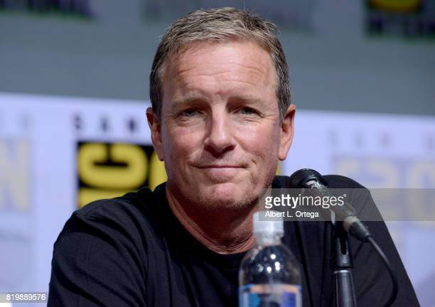 Linden Ashby speaks onstage at the 'Teen Wolf' panel during ComicCon International 2017 at San Diego Convention Center on July 20 2017 in San Diego...