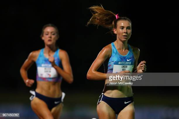 Linden Hall competes in the womens 5000m during the Hunter Track Classic on January 20 2018 in Newcastle Australia