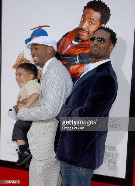 Linden Porco Marlon Wayans and Shawn Wayans during Little Man Los Angeles Premiere Arrivals at Mann National Theatre in Westwood California United...