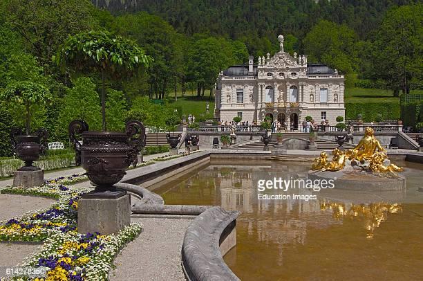 Linderhof Linderhof Castle Linderhof Palace Schloss Linderhof Upper Bavaria Bavaria Germany Europe
