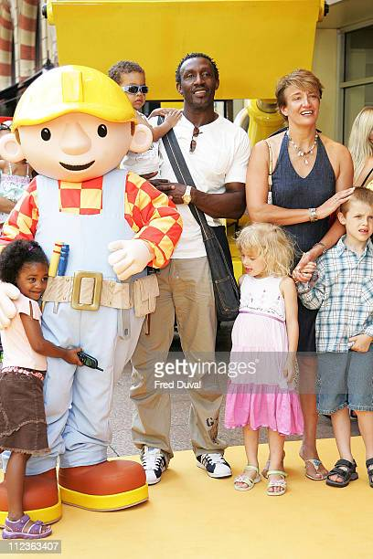 Lindford Christie and family during Bob The Builder Built To Be Wild London Premiere Outside Arrivals at Odeon West End in London Great Britain