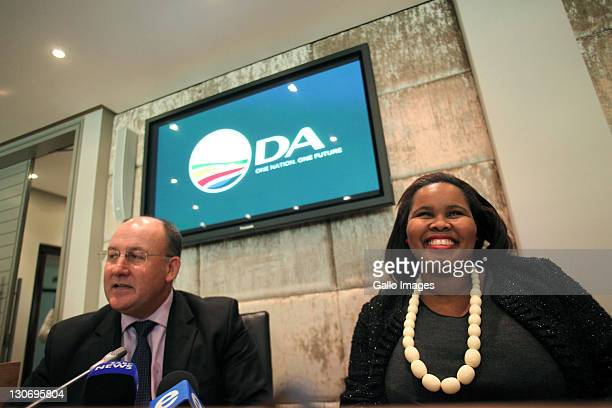 Lindiwe Mazibuko smiles during a press conference on October 27 2011 in Cape Town South Africa Lindiwe Mazibuko is the newly elected leader of the DA...