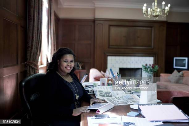 Lindiwe Mazibuko, the Democratic Alliance parliament leader works in her office at the parliament on December 14, 2011 in Cape Town, South Africa....