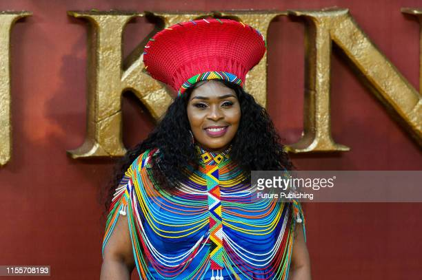 Lindiwe Mkhize attends the European film premiere of Disney's 'The Lion King' at Odeon Luxe Leicester Square on 14 July, 2019 in London, England