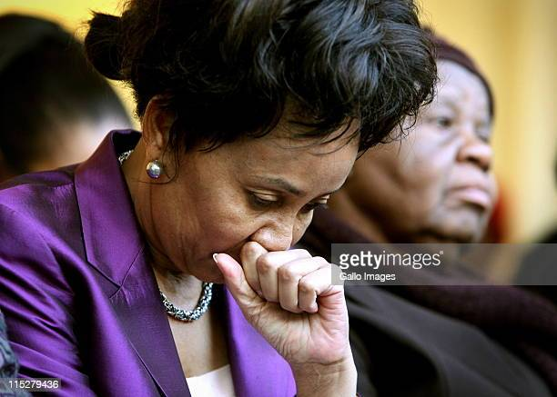 Lindiwe Sisulu minister of defence and military veterans attends a prayer meeting convened by the ANC Women's League on June 5 2011 in Johannesburg...