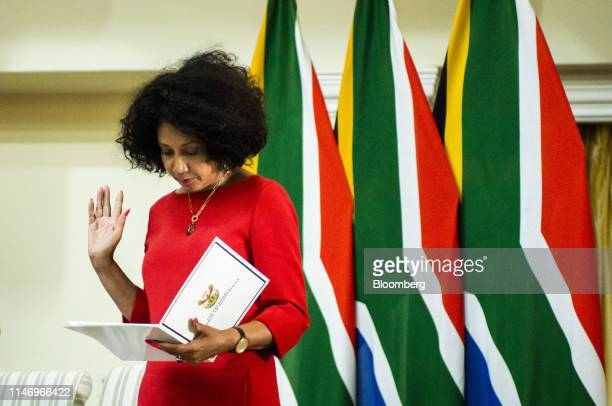 Lindiwe Sisulu South Africa's social development minister swearsin during a ceremony in Pretoria South Africa on Thursday May 30 2019 Now that South...