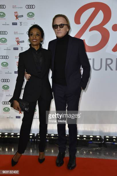 Lindiwe Suttle and Marius MuellerWesterhagen attend the BZ Kulturpreis 2018 at Staatsoper im Schiller Theater on January 9 2018 in Berlin Germany