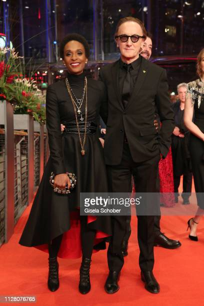 Lindiwe Suttle and Marius MuellerWesternhagen attend the The Kindness Of Strangers premiere during the 69th Berlinale International Film Festival...